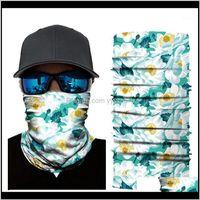 Cycling Caps Masks 3D Scarf Neck Bandana Warmer Gaiter Half Face Mask Men Women Head Bandanas Shield Headband Headwear Drop1 Lib9H Qgsau