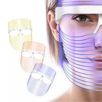 Top 3 Colors Facial Mask LED Wrinkle Removal Skin Rejuvenation light PDT Therapy Skin-Care Phototherapy Beauty Face Machine Whitening Instrument totherapy Veil