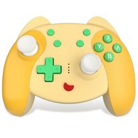 Game Controllers & Joysticks RISE-Wireless Bluetooth Auto Turbo Wake Up Gamepad PC Cartoon 6-Axis Gyroscope Controller For Switch