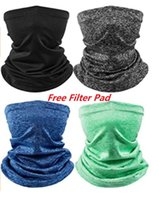 Adults Kids Face Cover Bandana with Pocket Neck Gaiter Reusable Mask Scarf Washable Reusable Cloth Balaclava Free Filter Pad