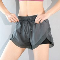 High quality New fashion sports shorts women's loose and quick drying running fitns skirt anti light high waist YOGA SHORTS