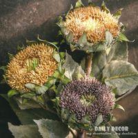 12pcs lot ! Wholesale 100% High-Q Vintage Artificial Sunflower Exquisite Fake Helianthus Flower For Home Christmas Decoration Decorative Flo