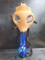 Gas Mask with Acrylic Smoking Bong Silicone Pipe Tabacco Shisha smoke pipes water pipe smoke accessory hookah for smoking pipe shashop
