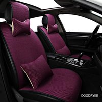 Flax Car Seat Covers For Mitsubishi Pajero Sport Lancer Asx 2011 Outlander L200 Colt Protector Cover Cars