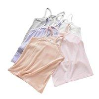 Crianças de tanque infantil Tops de meninas de verão roupas de algodão princesa 2-10Y B4851