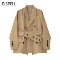 Sispell Casual Blazer per le donne a maniche lunghe a maniche lunghe teste patchwork sciolto cappotti coreani femminili 2021 abiti da primavera stile moda stile