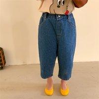 Milancel Spring Детские джинсы Джинсовые твердые повседневные свободные штаны 210729