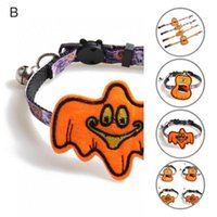 Cat Collars & Leads Durable Nice-looking Kitten Collar Necklace With Bell Adjustable Ghost Pet Product