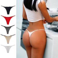 Thin Strappy Donne Panties Thongs e G Strings Plus Size Low Rise Femmina Tanga Cotton Bikini Biancheria intima S-XL Donna