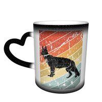 Mugs German Shepherd Mug Retro Pottery Chat Color Changing Creative Cups