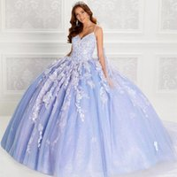 Sparkly Quinceanera Dresses With Cape 2021 Spaghetti Straps Sweet 15 Princess Party Ball Gown Lace Appliques Beads 3D Flowers