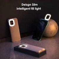 2021 Funda de teléfono de la lámpara Selfie con la luz de la belleza LED Flash Light para iPhone 12 Mini Pro Max Huawei Mate 30 40 P30 P40 Teléfonos Móviles Móviles Cubiertas