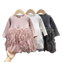 Girl's Dresses Baby Girls Spring Winter Long Sleeve Tutu Lace Infantil Born 1st Birthday Party Clothes Christening Gown Casual Wear