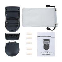 휴대용 음주 측정기 분석기 탐지기 디지털 LCD 알코올 센서 호흡 테스터 5 일회용 입 조각 818 알코올 중독 테스트
