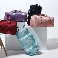 Lu Mens Женский спортивный рюкзак фитнес-мешки для фитнеса большие путешествия сумка открытый нейлон луло рюкзаки складки сухое и мокрое разделение lululemen 49см