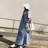 2020 Yeni Gelmesi Yaz Annelik Elbise Kadın Sevimli Kolsuz Büyük Boy Elbiseler Hamile Kadın Giyim 989 V2