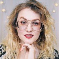 Zeelool Unisexe Tony Stark Stark Style Style Square Métal Optique Lunettes de lunetterie