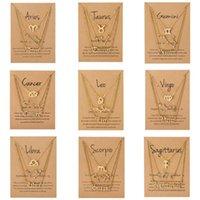 3pcs / set guld silver rostfritt stål stjärna zodiac tecken halsen 12 konstellation hänge halsband kvinnor guldkedja halsband män smycken gåva