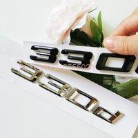 New ABS DIY Number Letter 330d Emblem for BMW Diesel Oil Fuel Trunk Logo Sticker Glossy Matte Black Chrome Silver
