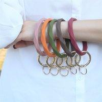 Silicone Bracelet Keychain Chain Round Circle Twist Bangle Ring Key Holder for Woman Wrist Strap Bracelets 1910 V2