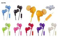 Top seller Gumy Gummy Earphone Earbuds 3.5mm Headphone HA-FR6 Gumy Plus with MIC For Samsung DHL free ship
