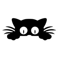 Cute Cat Cars Stickers 3D Vinyl Car Wrap for Auto Goods Decals Accessories Automovil Products Customized Motorcycle Decoration