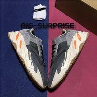 Top Qualität Wave Runner 700 Runing Schuhe Solid Grey Magnet Teal Carbon Blau Männer Frauen 3M Statische Reflektierende Outdoor Platform Sport Trainer Sneaker mit Box