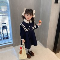اللباس النمط الأجنبي الربيع 2021 الأطفال نمط البحرية الكورية سترة الطفل تنورة