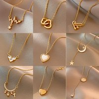 Pendant Necklaces Korean Version Of The Trendy Fashion Titanium Steel Necklace Female Retro Sex Heart Clavicle Chain Ins Wind Jewelry Gift