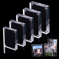 Transpranent Acrilico PO Frame Picture Poster Poster Display Tag Fresanding Promotio Label Stand Banconata