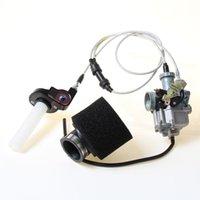 Motosiklet yakıt sistemi karbüratör pz 27 ivme pompası, çift kablolar ve 125 150 200 250 300cc ATV Quad Carb için kolu ile