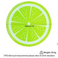 Nouveau rond silicone cire DAB MAT Silicone DABMENT MAT Citron Design NO-Stick Dabber Feuilles DAB PAD pour HUMIÈRE HERB SHEC HUILE HWWE6322
