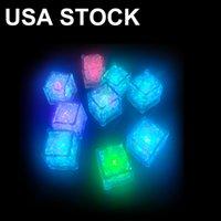 Glace Glace Lights Lights LED Block fluorescent Coloré Cubes Cubes Cubes Flash Induction Flash Lampe KTV Barre de mariage Fournitures de mariage