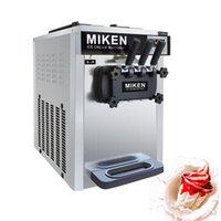 Dondurma makinesi masaüstü üç lezzet yüksek kaliteli paslanmaz çelik yumuşak