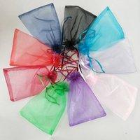 Bolsa de regalo de la organza púrpura Favor de la boda bolsas de fiesta 9x12cm Nuevo u otros colores 458 v2