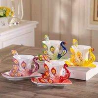 Tazza da caffè creativa Set di latte succo di latte dipinto Coppa in ceramica in ceramica INS Studente Prima colazione Ghiaccio Birra regalo per la fidanzata Tazze