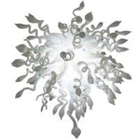 Lâmpadas de lâmpadas de candelabro estilo nórdico mão soprada lustres de vidro branco luzes de cor led luminária para sala de estar arte decoração