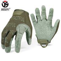 Jizuyi Tactical перчатки полное пальца перчатки мужчины варежки армии военный пейнтбол Airsoft стрельба на велосипеде дышащий микрофибр новый