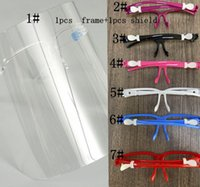 Face Shield Gläsern Protector Prävention Full Face Shield Guard Protector Wiederverwendbare Ölspritzer Beweis Gesicht Glas Design Masken ZHL5707