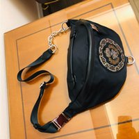 Hot 093 Bag Nylon Female 2021 Sports Fashion Ins Messenger With New Cowhide One-shoulder Chest Dumpling Diamond Idspq