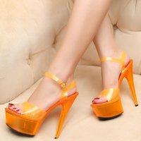 Sandali piattaforma 15 cm stripper tacchi alti gelatina scarpe da donna estate trasparente signore partito fenty beauty big size