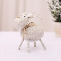 Party Masks Christmas Wool Ornament Pendant Doll Decoration Tabletop Lovely Gift Scene Props