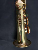 95% Kopiera Mark VI Sax Model Gold Lecqued B Flat sopran Saxofon med tillbehör