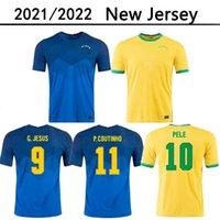 Бразильс 2020 2021 Камиссета де Футбол Пакет Neres Coutinho Футбольная футболка Фирдино Иисус Футбол Джерси Марсело 2021 Maillot de Foot Brasil