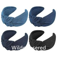 Hair Clips & Barrettes Fashion Women's Band, Denim Cloth, Versatile Headband Manufacturers Wholesale Face Washing