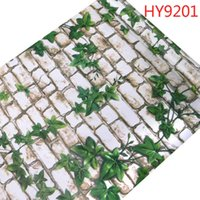 3d Brick Stone Sticker Pattern Self Adhesive Peel and Stick Vinyl Wallpaper 10M Back with Glue PVC Wall Paper For TV Room Decor Q0723