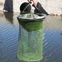 Fishing Accessories 1.2m 1.5m 2m Net With Bag Quick-drying Trap Nets Foldable Crayfish Traps Carp 2021