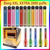 Bang XXL Einweg-Vape-Pen E-Zigaretten 2000 Puffs Viel mehr als Puffleiste 800mAh-Batterie 24 Farben auf Lager Großhandel
