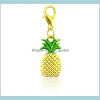 Findings Components Drop Delivery 2021 Jinglang Lobster Clasp Dangle Gold Color Alloy Pine Fruit Pendants Diy Charms For Jewelry Making Acces