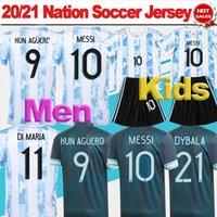 Männer Argentinien Fussball Jersey 2021 2022 # 10 Messi Home Soccer Hemd 21/22 Kids Kit Dybala Maradona Copa America Away Football Uniform Fans Version